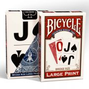 U.S. Playing Card Company Bicycle Large Print - Bridge Size (keskeny) kártyacsomag